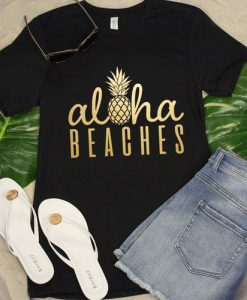 Aloha Beaches Pineapple Tshirt EL13J0