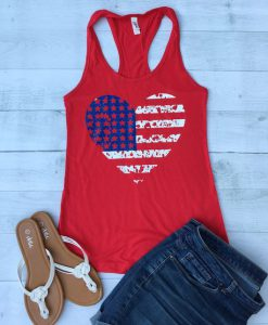 American Flag Fitted Tanktop FD27J0