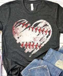 Baseball heart T Shirt FD14J0