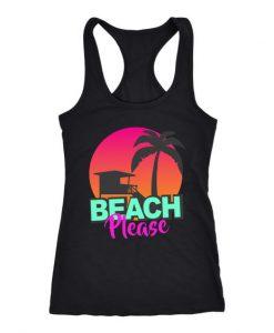 beach please cute Tank Top SR17J0