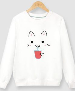 Cat Drink Sweatshirt EL6F0