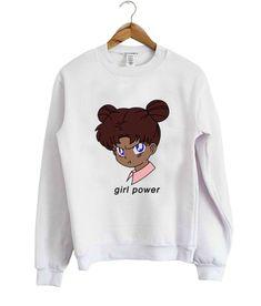 Girl Power Anime Sweatshirt EL6F0