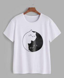 Yin Yang Cat T-Shirt ND5M0