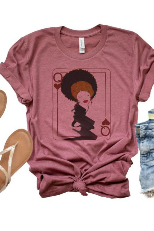 Afro Queen of Hearts Tshirt LE29JL0
