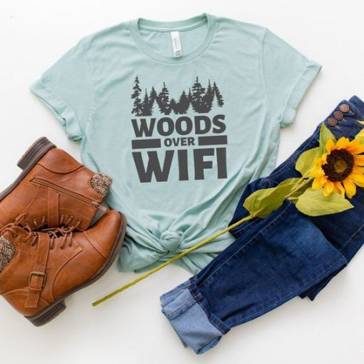 WOODS over WIFI Tshirt LE29JL0