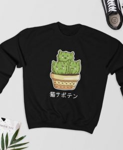 Cat Cactus Sweatshirt AS22AG0