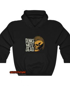 Punks not dead with punk skull Hoodie EL13D0