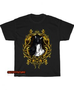 art work illustration abstract unicorn head engraving ornament T-Shirt EL5D0