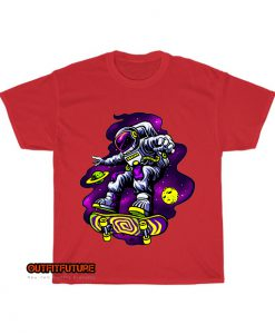 astronaut playing skateboard space T-Shirt EL5D0