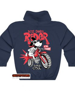 cartoon dog riding motorcycle Hoodie EL1D0