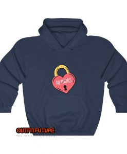 illustration-of-a-heart-in-a-padlock-Hoodie EL18D0