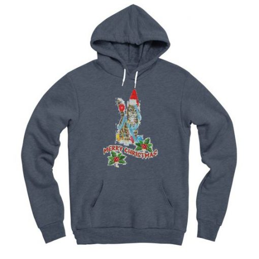 Jolly Christmas Kitty Cat Hoodie FA23F1