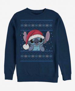 Stitch Wearing Santa Hat Crew Sweatshirt FA23F1