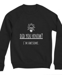 Did you know sweatshirt TJ2MA1
