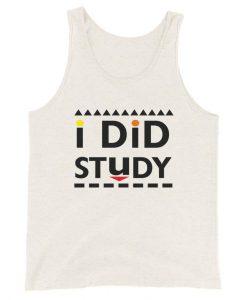I Did Study Tanktop AL18MA1